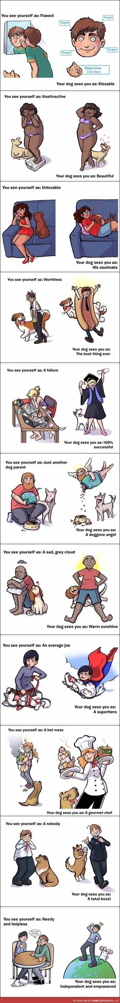 Dogs love unconditionally <3