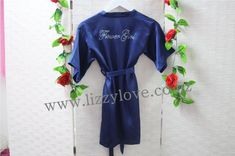 Gorgeous satin robes with gorgeous rhinestone flower girl personalisation across the back of the robe. Flower Girl Robes, Gifts For Wedding Party, Dressing, Girly, Gowns, Cute, Flowers, Gift Ideas, Accessories