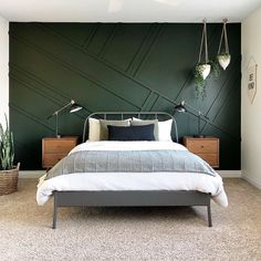 Best Dark Green Paint Colors To Use in Your Home! best dark green paint colors to use in your home Bedroom Green, Home Bedroom, Modern Bedroom, Bedroom Ideas, Dark Master Bedroom, Contemporary Bedroom, Bedroom Inspiration, Bedroom Images, Ikea Bedroom