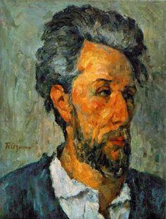 Great Big Canvas 'Portrait of Victor Chocquet, 1876 by Paul Cezanne Painting Print Size: H x W x D, Format: White Framed Monet, Renoir, Cezanne Portraits, Paul Cezanne Paintings, Cezanne Art, Cubist Paintings, Painting Prints, Art Prints, Canvas Prints