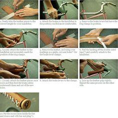 Comment bien monter un grip de vélo en cuir