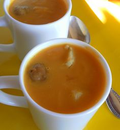 Vellutata di zucca e castagne/pumpkin and chestnuts cream