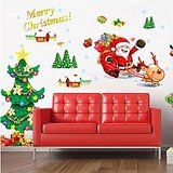 EMIRACLEZE Christmas Gift Holiday Shopping Merry Christmas Tree Santa Claus Decoration Removable Mural Wall Stickers... christmas deals week