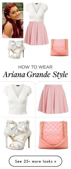 """Cat Valentine"" by charmedgreys on Polyvore featuring Drome, GUESS and Chanel"