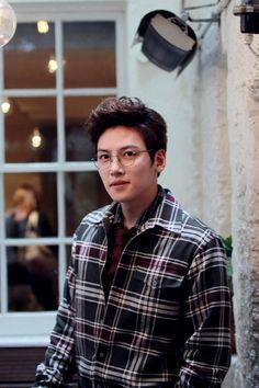 Wookie in glasses. Too too cute!! Ji Chang Wook