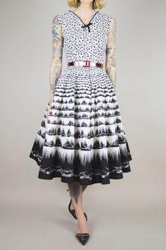 1950's black & white sundress // noirohio vintage