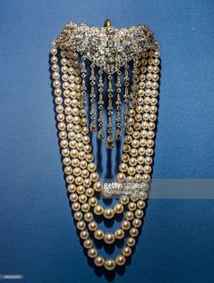 Diamond and pearl necklace by Cartier on display at the museum. Hillwood Estate and Museum Board President Ellen Charles, granddaughter of heiress Marjorie Merriweather Post, is stepping down after heading the museum for 25 years..