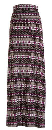 Chevron Floral Aztec Tribal Striped Printed Full Maxi Skirt Dress - Listing price: $48.00 Now: $15.75  #VIVCollection