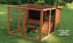 Design and Build Outdoor Rabbit Hutches Using Indoor Rabbit Cages Rabbit Hutch And Run, Outdoor Rabbit Hutch, Bunny Hutch, Rabbit Run, Rabbit Hutches, Pet Rabbit, Rabbit Hutch Plans, Indoor Rabbit House, Indoor Rabbit Cage