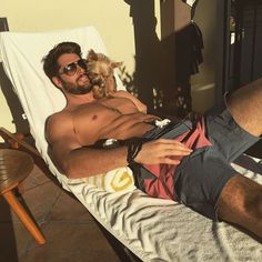 Time to relax :D. Photo by nick__bateman Ontario, Nick Bateman, Fashion Network, Man And Dog, Age, Actor Model, Good Looking Men, Man Candy, Sexy Men