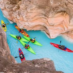 """Photo by Jesse Weber (@unwearytraveler) """"The location is Havasu Creek (of the famous Havasu Falls) near its confluence with the Colorado River in the Grand Canyon. To get to this spot we paddled our kayaks for 157 miles of flat water and rapids over the span of 8 days camping each night along the river with only what could fit in our boats. On the day this picture was taken we still had 5 days and 123 miles to paddle."""" - Jesse by nakedplanet"""