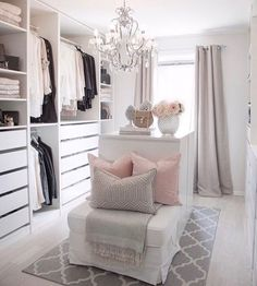 35 Best Walk in Closet Ideas and Picture Your Master Bedroom is part of Dressing room closet - Looking for some fresh ideas to remodel your closet Visit our gallery of leading best walk in closet design ideas and pictures Dressing Room Closet, Dressing Room Design, Dressing Rooms, Spare Room Dressing Room Ideas, Walk In Closet Design, Closet Designs, Sala Glam, Decor Room, Bedroom Decor