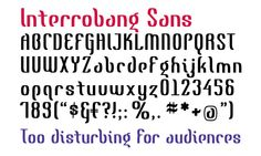 Interrobang Sans from GarageFonts