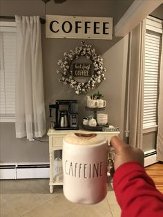 Coffee bar, rae Dunn display