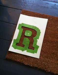 Roar… my super neon, super silly, darn cool doormat DIY Cool Doormats, Darning, Drink Sleeves, Neon, Diy, Bricolage, Neon Colors, Do It Yourself, Homemade