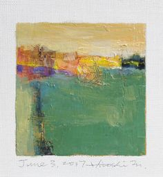June 3 2017  Original Abstract Oil Painting  9x9 painting