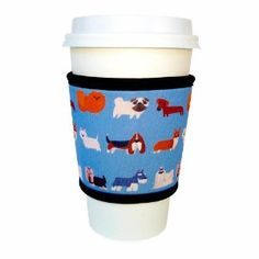 $7.99 Add some dog love to your drinks with the Joe Jacket® - Canine print beverage insulator sleeve!  www.JoeJacket.com