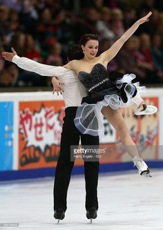 Anna Cappellini and Luca Lanotte of Italy skate during the Ice Dance Free Dance on day two of the Rostelecom Cup ISU Grand Prix of Figure Skating 2015 at the Luzhniki Palace of Sports on November 21, 2015 in Moscow, Russia.