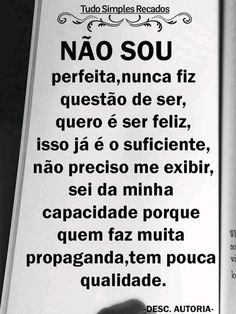 Portuguese Quotes, Words Quotes, Sayings, Anti Social, Just Me, Sentences, Positive Quotes, Texts, Reflection