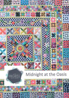MIDNIGHT AT THE OASIS BY JEN KINGWELL~QUILT PATTERN~INSTRUCTIONS ONLY~60 IN SQ in Crafts, Sewing, Quilting, Quilt Patterns | eBay