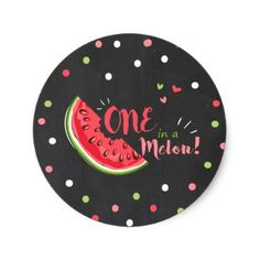 #One in a melon Watermelon Tags Envelope Sticker - #birthday #gift #present #giftidea #idea #gifts