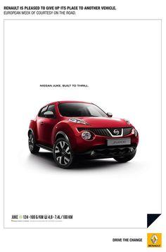 Renault offre son espace publicitaire à Nissan- Publicis Bruxelles 2013 - Journée de la courtoisie au volant