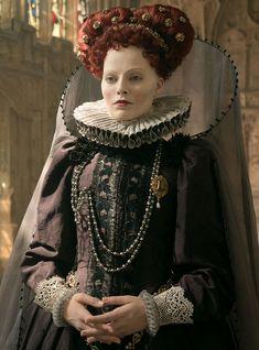 Saoirse Ronan as Mary Stuart Margot Robbie as Elizabeth Tudor Queen Mary : In my end is my beginning . ~from Mary Queen of Scots . Mary Queen Of Scots, Reign Mary, Queen Mary, Elizabeth I, Queen Elizabeth Movie, Mary Tudor, Mary Stuart, Margot Robbie Wedding Dress, Elizabethan Era