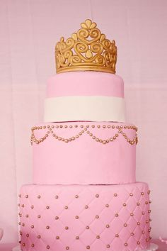 Elegant Royal Pink and Gold Gilded Bird Cage Baby Shower | Baby Lifestyles