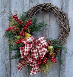 Winter Wreath Woodland Wreath New England by NewEnglandWreath, $169.00