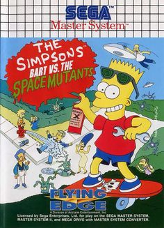The Simpsons: Bart vs. the Space Mutants SEGA Master System cover art - MobyGames - I remember playing this! Classic Video Games, Retro Video Games, Retro Games, Bart Simpson, Playstation, Pc Engine, Sega Master System, Nintendo Sega, 8 Bits