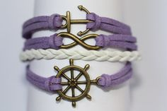 TRANQUIL Handmade Ship Wheel Infinity Anchor by ilovecheesygrits