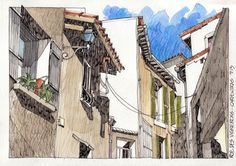 JR Sketches: Carpentras Rue Des Vignerons