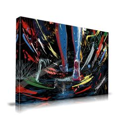 'The Path' Graffiti Graphic Art on Wrapped Canvas