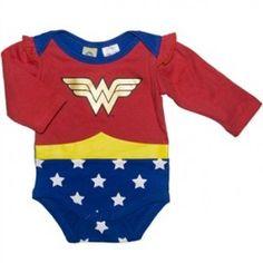 Baby Wonder Woman Long Sleeve Bodysuit/Onsie - Costume