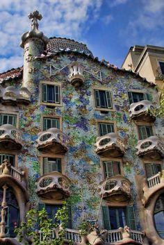 Casa Batlló, Gaudi, Barcelona.