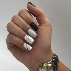 25 Elegant Nail Designs to Inspire Your Next Mani Simple Acrylic Nails, Square Acrylic Nails, Best Acrylic Nails, Elegant Nail Designs, Elegant Nails, Nail Art Designs, Edgy Nails, Stylish Nails, Grunge Nails
