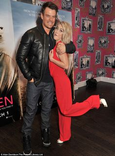 Nothing Safe (Haven) about that! Julianne Hough looks smoking in daring red jumpsuit at photocall for latest film with Josh Duhamel Julianne Hough Safe Haven, Stacy Ferguson, Bronze Skin, Red Jumpsuit, Josh Duhamel, How To Be Likeable, Black Eyed Peas, Celebrity Pictures, Actors & Actresses
