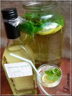 Limara péksége: Mentalé Limoncello, Healthy Drinks, Pickles, Ham, Cucumber, Jelly, Recipies, Paleo, Food And Drink