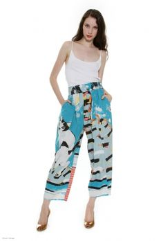 Michael Vollbracht cat-print pants from Ritual Vintage. Please please please no one buy these!