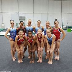 Making friends: Simone Biles uploaded this picture of Team USA with… Team Usa Gymnastics, Gymnastics Events, Gymnastics World, Gymnastics Quotes, Gymnastics Posters, Amazing Gymnastics, Gymnastics Pictures, Artistic Gymnastics, Olympic Gymnastics