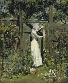 The Lilac Sunbonnet, William Page Atkinson Wells