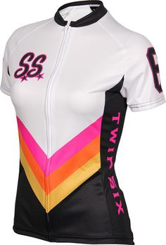 The Super Star Womens Cycling Jersey by Twin Six. I love Twin Six cycle clothing Women's Cycling Jersey, Cycling Wear, Cycling Jerseys, Cycling Outfit, Cycling Clothing, Love Twins, Performance Cycle, Cycle Chic, Super Star