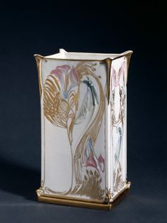 Vase, c. 1903, Georges de Feure (French, 1868-1943), Gérard, Dufraissex and Abbot (French)