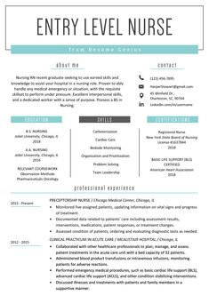 Nursing Resume Examples with Clinical Experience New Entry Level Nurse Resume Sample New Grad Nursing Resume, Nursing Resume Examples, New Grad Nurse, Nursing Resume Template, Nursing School Notes, Nursing Tips, Sample Resume, Resume Templates, Basic Resume