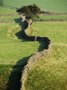 Dry stone wall in Yorkshire, UK