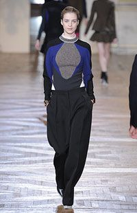 feelin' the blue/black pairings at stella mccartney winter 2012 and the low-slung trousers.