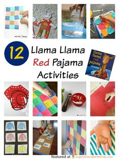 Check out all of the Llama Llama Red Pajama activities. Kids will have fun with these!
