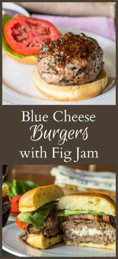 This recipe for a blue cheese burger with fig jam for your next barbecue. The sweetness of the fig pairs great with the savory blue cheese stuffing. #SundaySupper