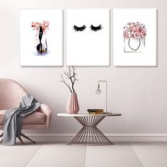 lash room decor High Heel Wall Art Pictures for Girl Bedroom Decor Pink Canvas Painting Eye Lashes Posters and Prints Modern Home Decor Framed Home Decor Wall Art, Living Room Decor, Bedroom Decor, Bedroom Ideas, Living Room Pictures, Wall Art Pictures, Pictures For Bedroom Walls, Girl Bedroom Walls, Bed Room