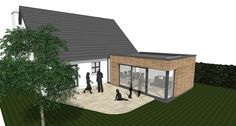 Image result for garden room extension with cladding Garden Room Extensions, Open Up, Cladding, Living Spaces, New Homes, Outdoor Decor, Modern, House, Extension Ideas